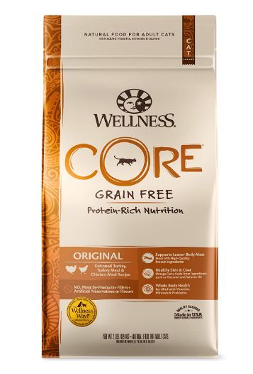 Cat Dry Food, WELLNESS CORE Natural Grain Free Dry Cat Food, Original Turkey & Chicken